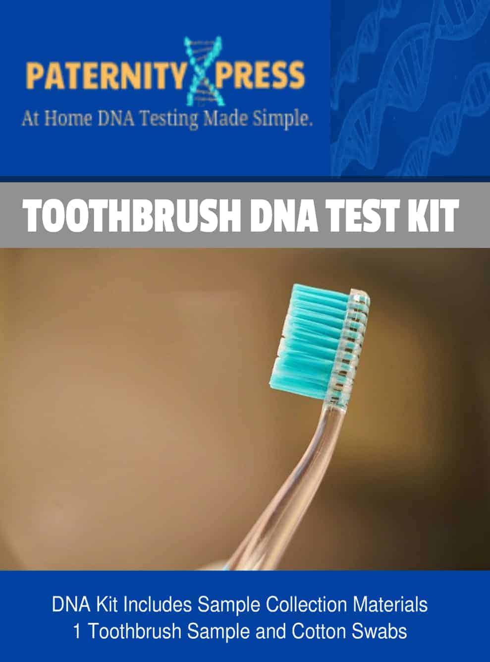 Toothbrush dna test kit